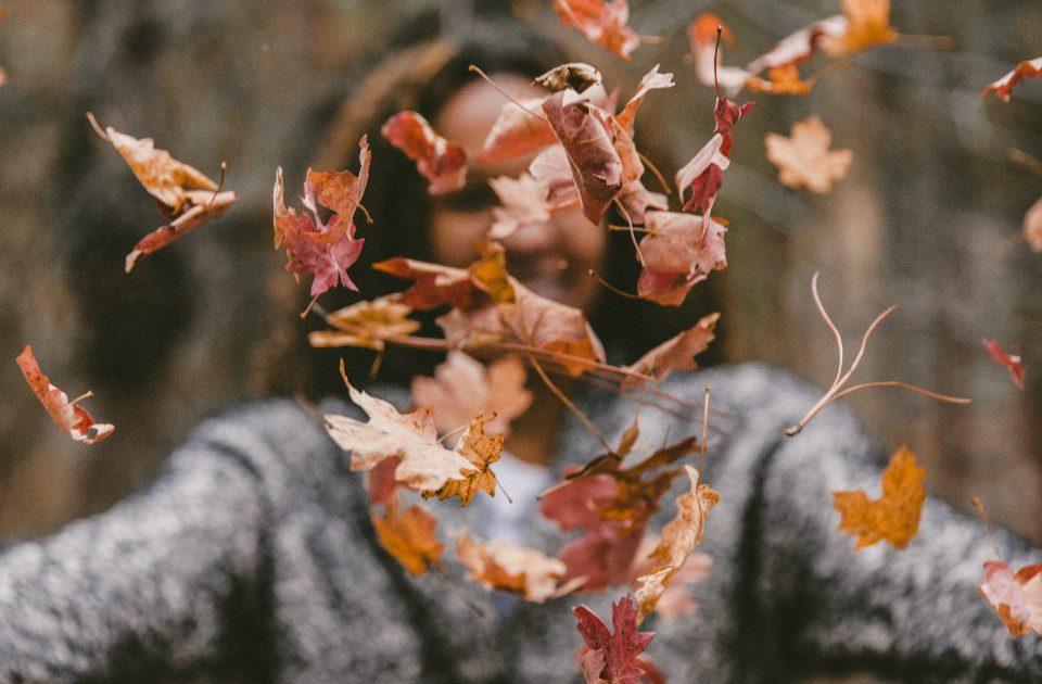 Ramasser les feuilles à l'automne